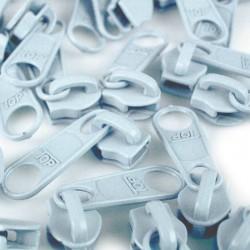 Zipper für 5mm Schiene hellblau