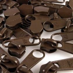 Zipper für 5mm Schiene dunkelbraun