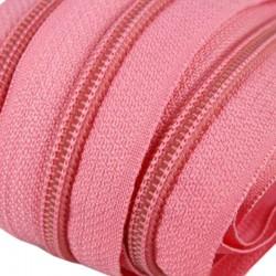 Reißverschluss endlos 5mm Schiene rosa