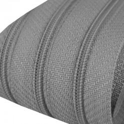 Reißverschluss endlos 3mm Schiene grau