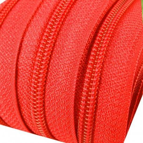Reißverschluss endlos 3mm Schiene neon orange