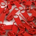Zipper für 3mm Schiene rot