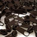 Zipper für 3mm Schiene dunkelbraun