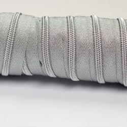 Reißverschluss endlos 5mm Schiene Lurex silber