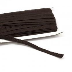 elastisches Einfassband Schlüpferband 12mm breit schokobraun