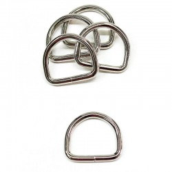 D Ring 25x22x4mm Metall