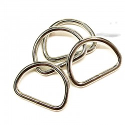 D Ring 30x22x3,8mm Metall