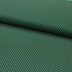 Stoff Baumwolle kleine Punkte dunkelgrün