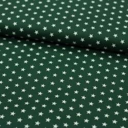 Stoff Baumwolle kleine Sterne dunkelgrün