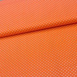 Stoff Baumwolle kleine Punkte orange