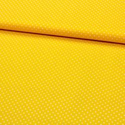Stoff Baumwolle kleine Punkte gelb