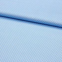 Stoff Baumwolle kleine Punkte hellblau