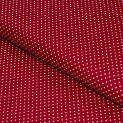 Stoff Baumwolle kleine Punkte dunkerot