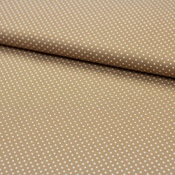 Stoff Baumwolle kleine Punkte hellbraun