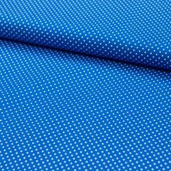 Stoff Baumwolle kleine Punkte blau