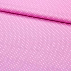 Stoff Baumwolle kleine Punkte rosa