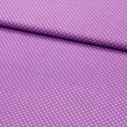 Stoff Baumwolle kleine Punkte lila