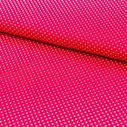 Stoff Baumwolle kleine Punkte rot