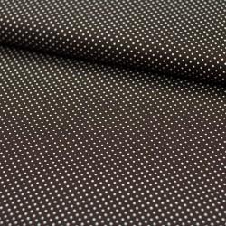 Stoff Baumwolle kleine Punkte dunkelbraun
