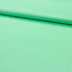 Stoff Baumwolle kleine Punkte mint