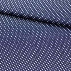 Stoff Baumwolle kleine Punkte dunkelblau
