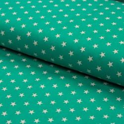 Stoff Baumwolle kleine Sterne dunkelmint