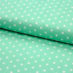 Stoff Baumwolle kleine Sterne mint