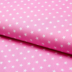 Stoff Baumwolle kleine Sterne rosa