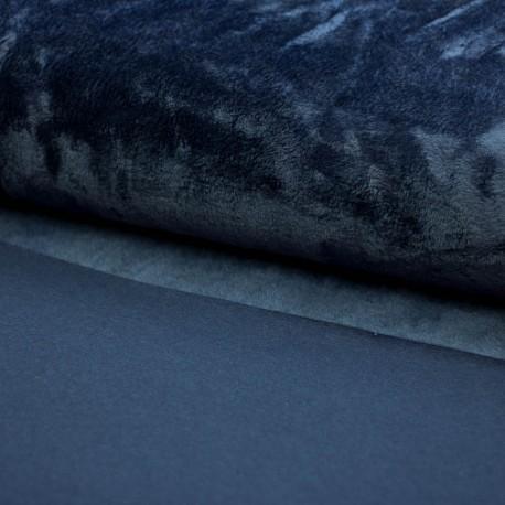 Alpenfleece uni dunkelblau