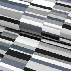 Baumwollstoff Canvas PEPPER by Emmie K. Geo Pop Stripes