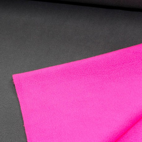 Polar Fleece Double Face grau pink