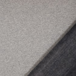 Alpenfleece Heidi meliert grau dunkelgrau
