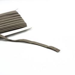 elastisches Einfassband Schlüpferband 12mm breit taupe