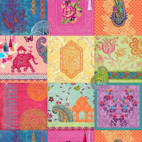 Stoff Dekostoff Digitaldruck Indian Dream mulitcolor