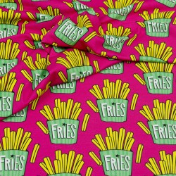 Sweat Hamburger Liebe OMG Fries pink - Frittensweat