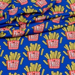 Jersey Hamburger Liebe OMG Fries blau - Frittenjersey