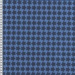 Stoff Baumwolle beschichtet Farbenmix Staaars jeansblau