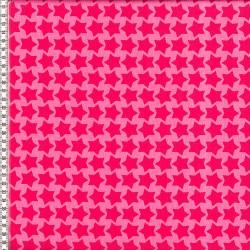 Stoff Baumwolle beschichtet Farbenmix Staaars pink