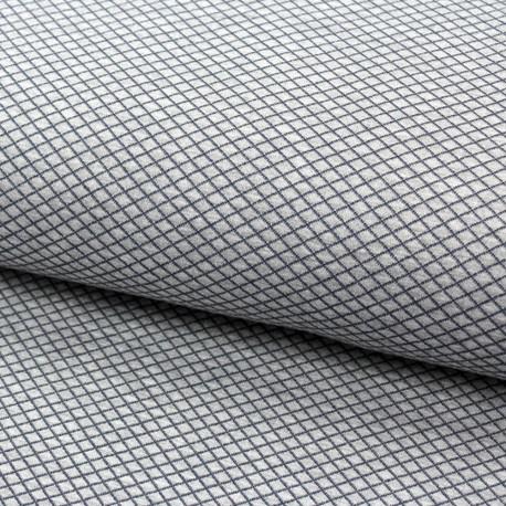 stoff jacquard jersey stepper jeansblau grau kaufen. Black Bedroom Furniture Sets. Home Design Ideas