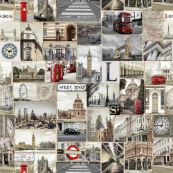 Dekostoff Stoff Digital I love London