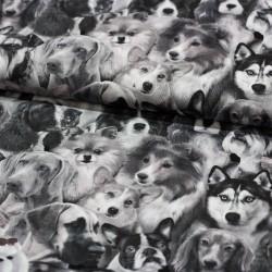 Baumwollstoff Dog Breeds