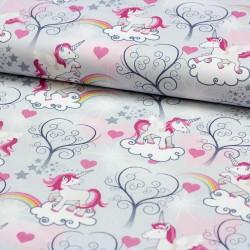 Stoff Dekostoff Digitaldruck Unicorn Love