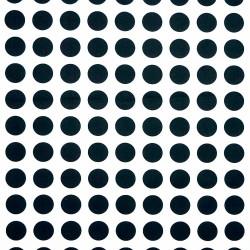 Dekostoff Geometric Dots weiß schwarz