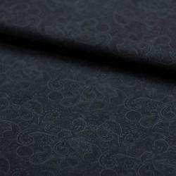 Stoff Baumwolle Popeline Florian Paisley nachtblau