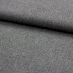 Blusenstoff Baumwolle Dina mittelgrau leicht meliert