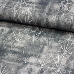 Stoff Dekostoff Borneo grau mamoriert Rauten