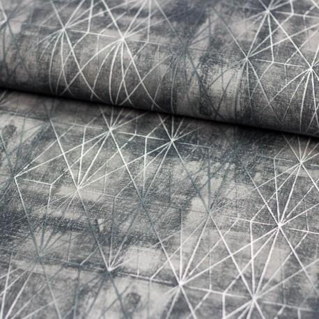 Grau stoff stoff japan asanoha grafik grau wei kimono for Armlehnstuhl grau stoff