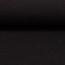 Stoff Slub Jersey MIAMI uni schwarz