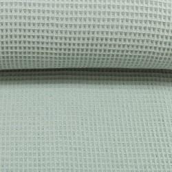 Waffelpiqué uni rauchiges mint