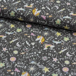 Baumwollstoff Sugar and Spice by Blend Fabrics Einhorn Unicorn